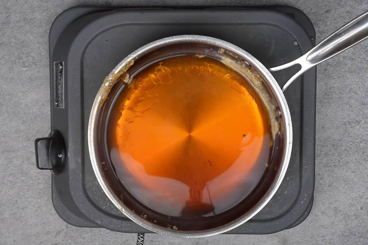Ready brown sauce.