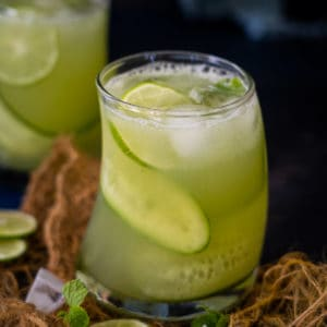 Cucumber Cooler is a refreshing summer beverage that is made with a fantastic combination of cucumber and mint leaves. Make a big pitcher and keep sipping it all day.