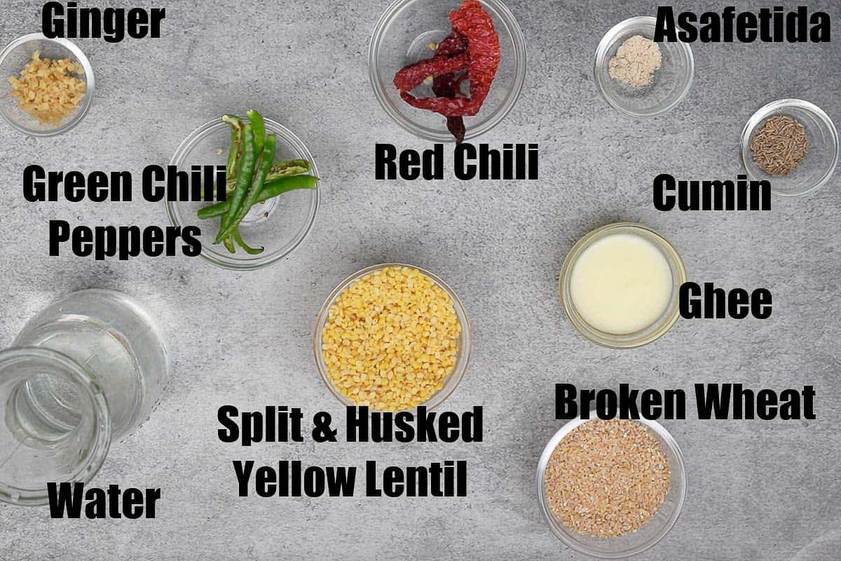 Daliya Khichdi Ingredients 1