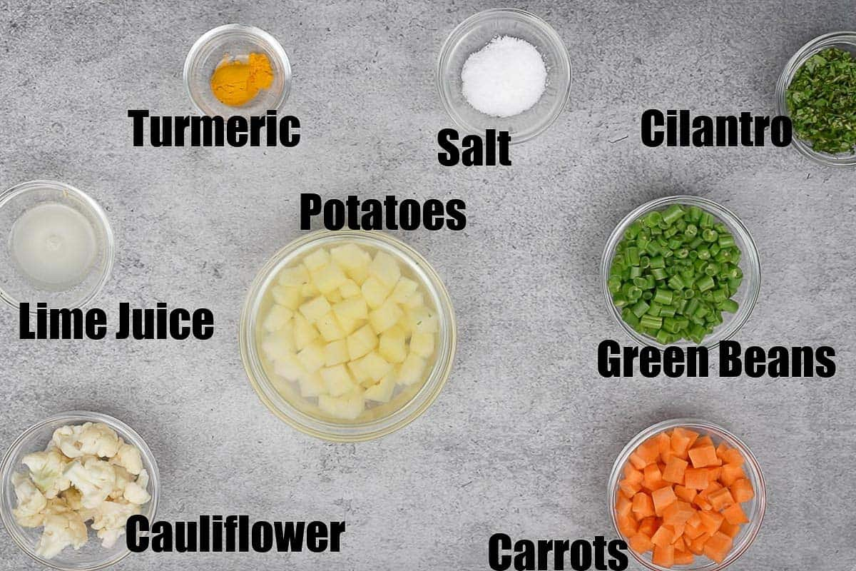 Daliya khichdi ingredients 2