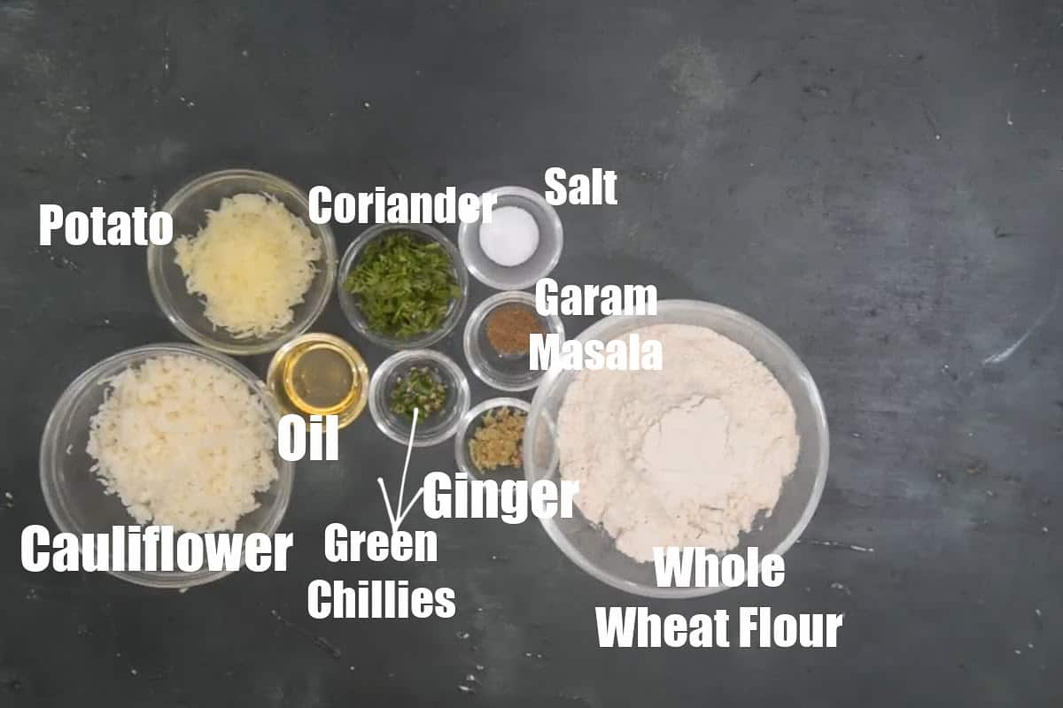 Gobi Paratha Ingredients.