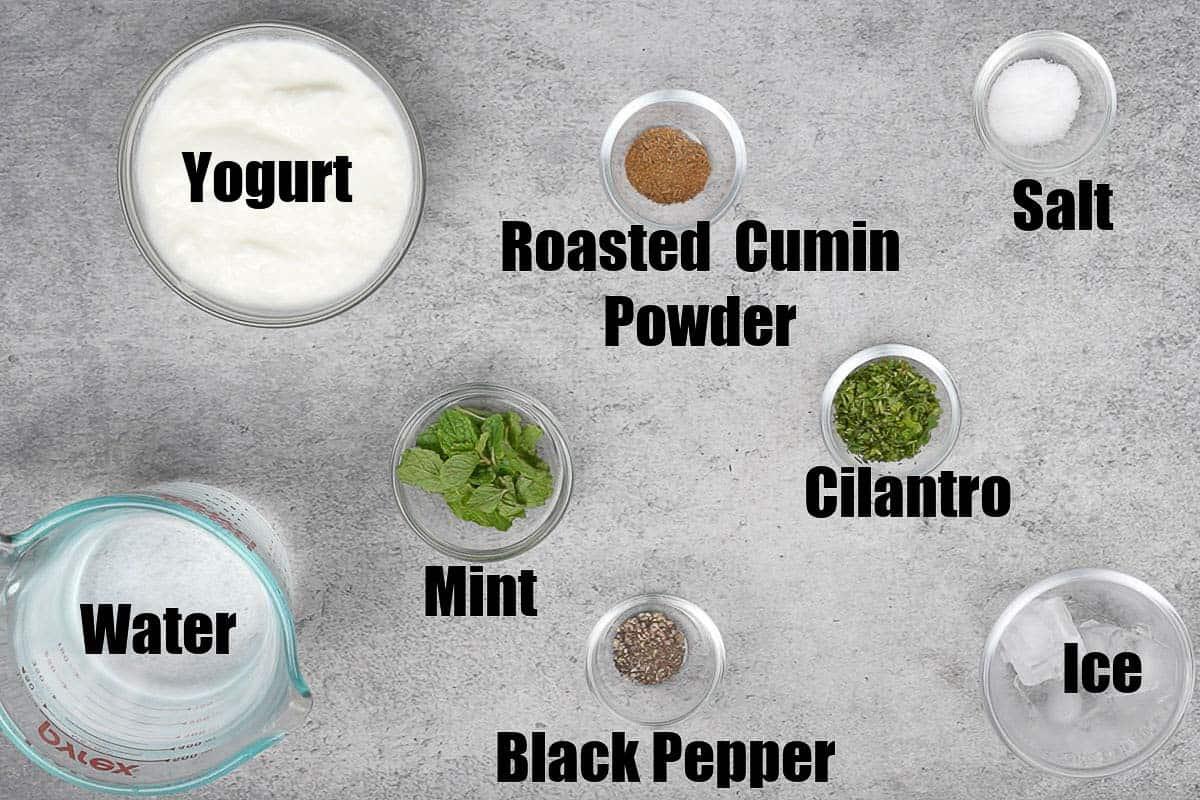 Masala Chaas Ingredients.