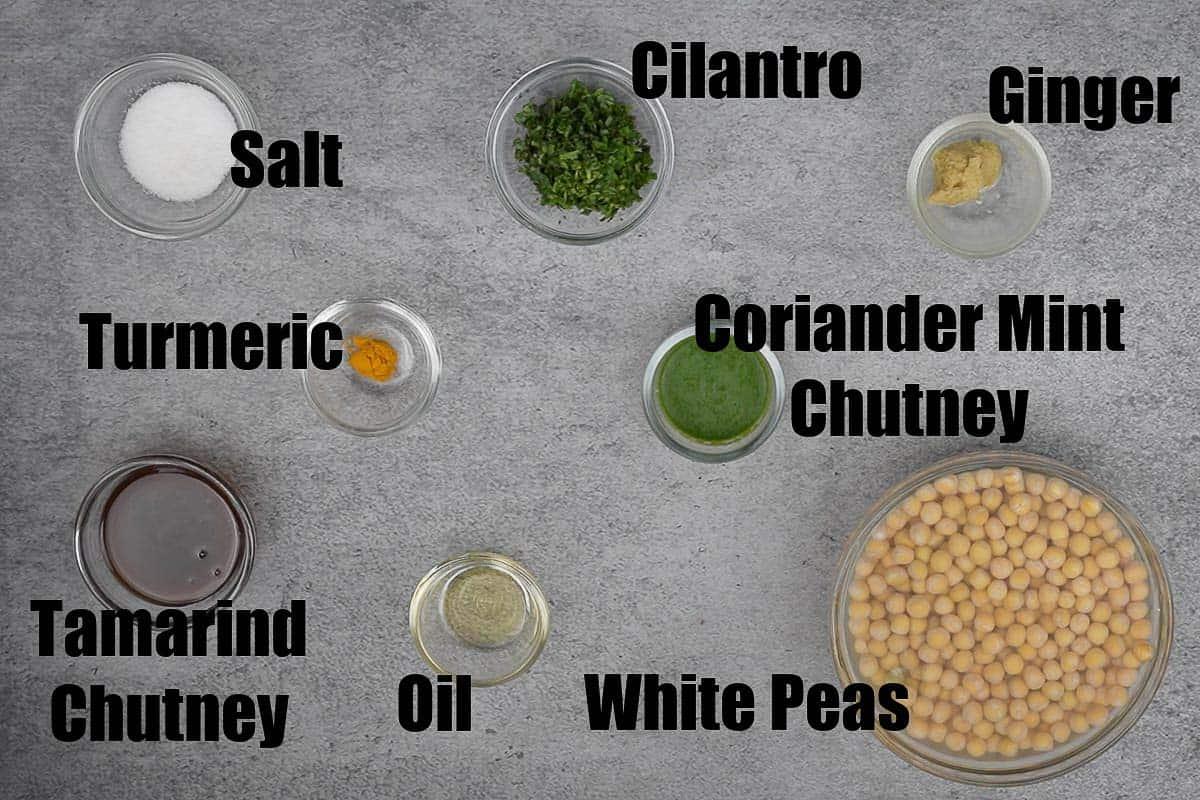 Ragda ingredients.