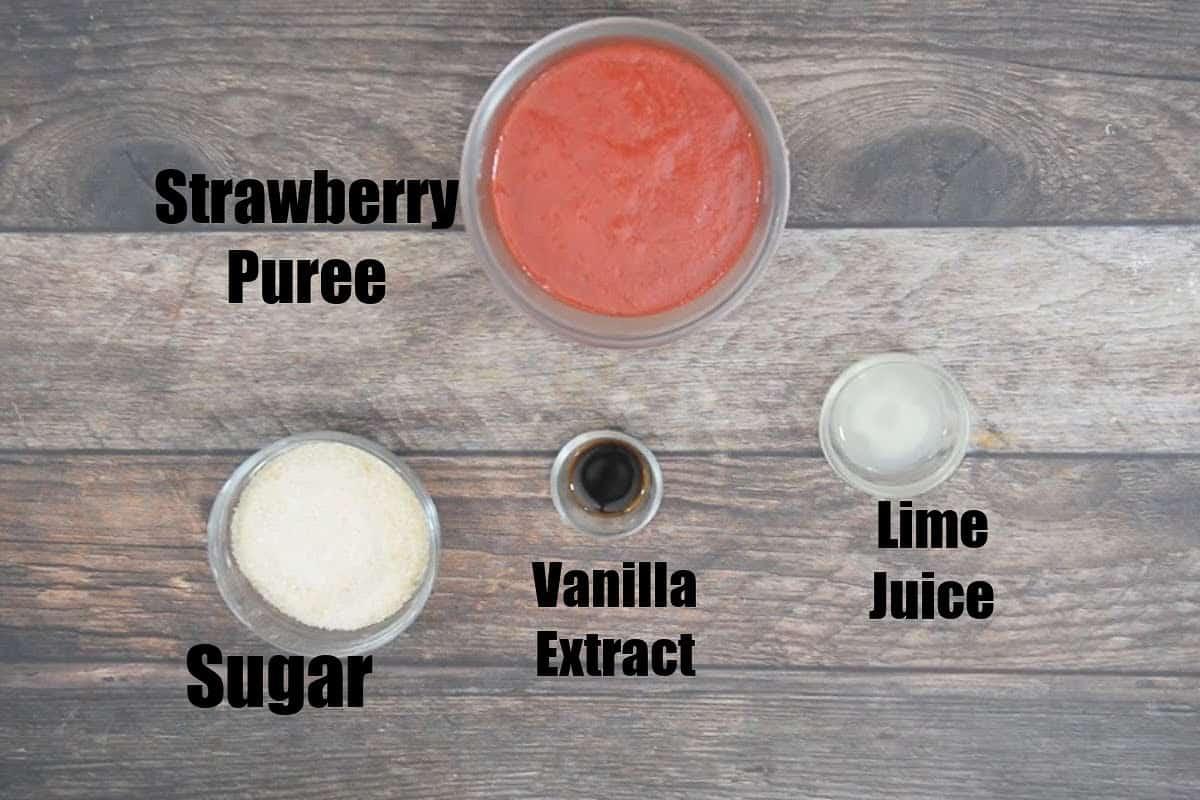 Strawberry Jam Ingredients.