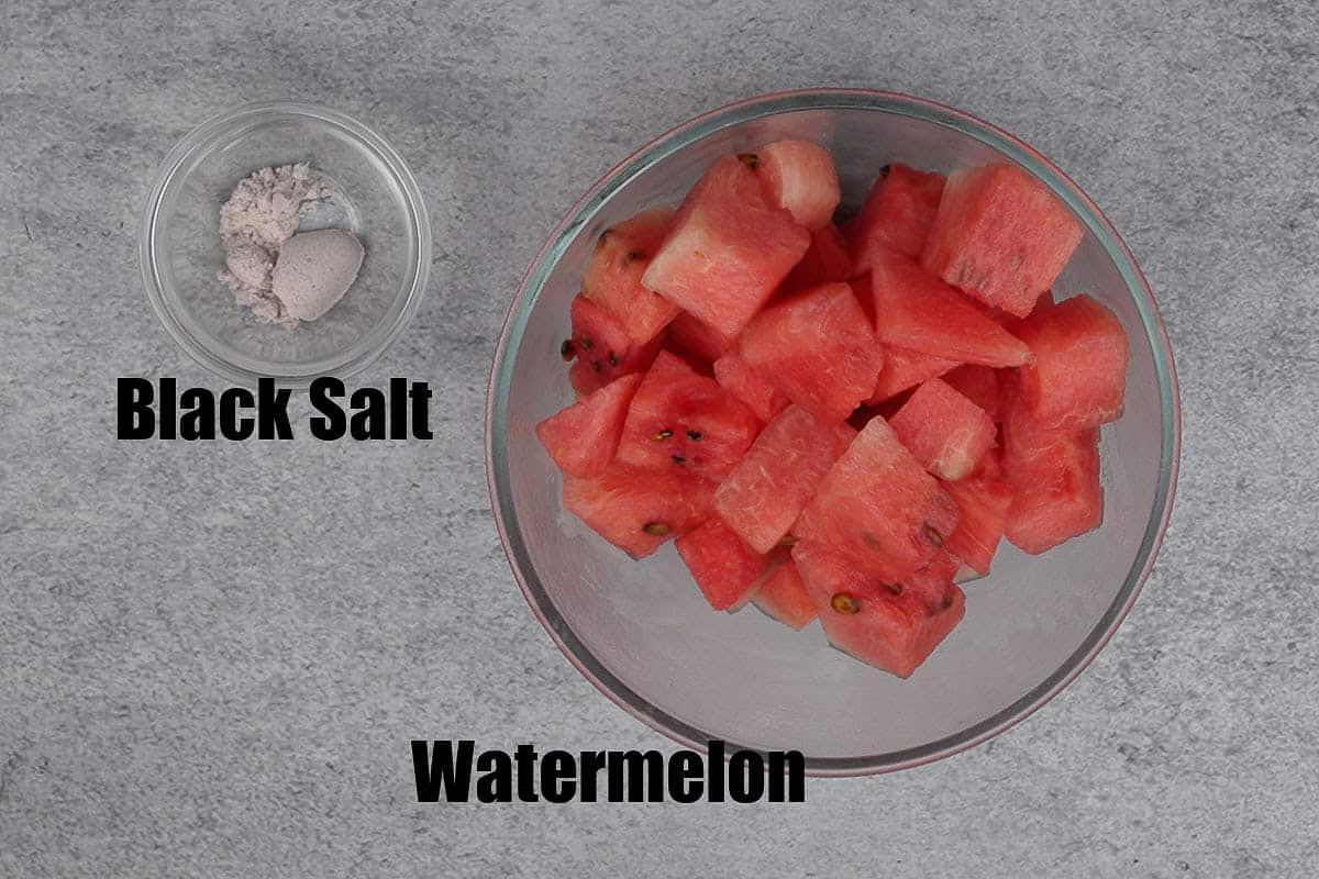 Watermelon juice ingredients.
