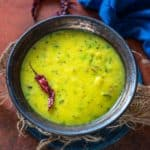 Make this Bengali masoor dal for a comforting meal and serve it with steamed rice and a dry sabji on the side. Here is how to make it.
