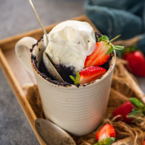 Make this rich, fudgy, chocolate lava mug cake in a microwave in under 5 minutes. This dump-and-go cake recipe is a keeper guys. Do try!