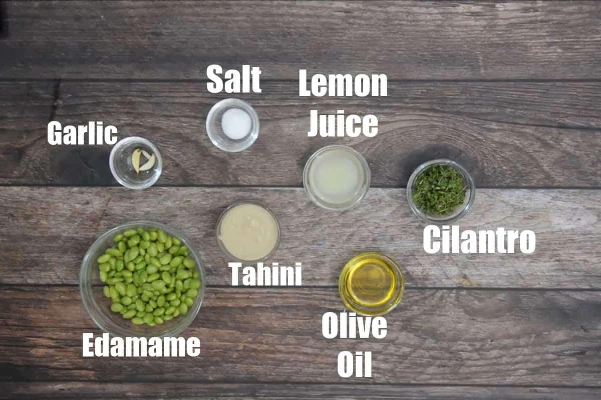 Edamame Hummus Ingredients.