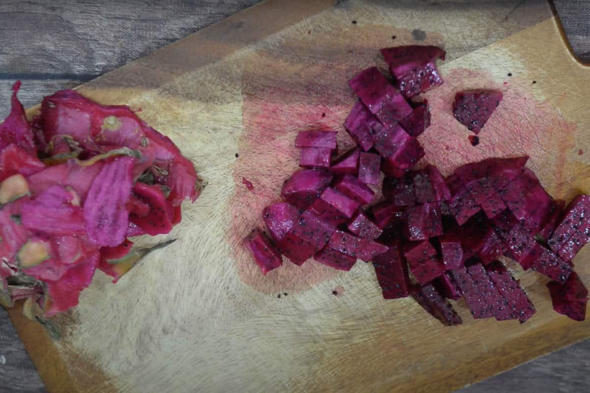 Chopped Pitaya.