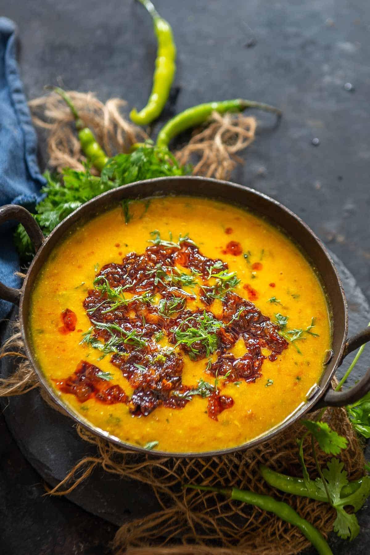 Shahi dal served in a bowl.