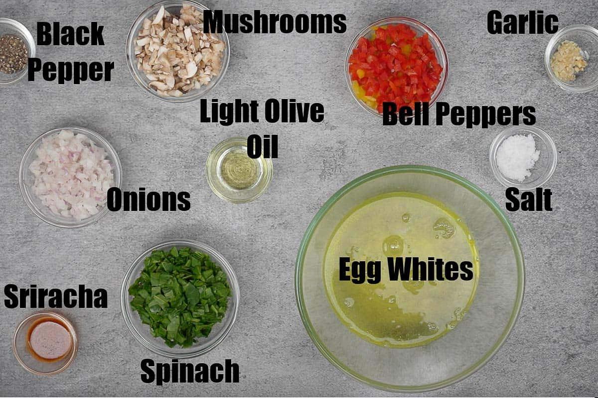 Egg White Muffins Ingredients.