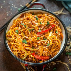 Sweet, spicy, and savory, these Korean Gochujang noodles are a delicious quick fix for your lazy meals. These come together in just 20 minutes using simple ingredients.