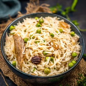 Peas Pulao ( Matar Pulao) is a quick, filling, and flavorful one-pot rice dish that is nutritious as well as good for managing your carb cravings. Made using green peas, long-grain rice, and a few spices, this dish can be made in under 30 minutes using pantry staples (and it's gluten-free).