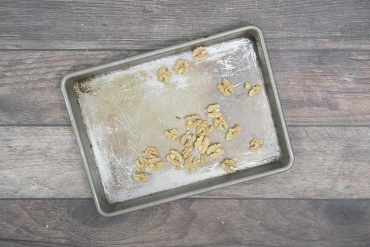Toasted walnuts.