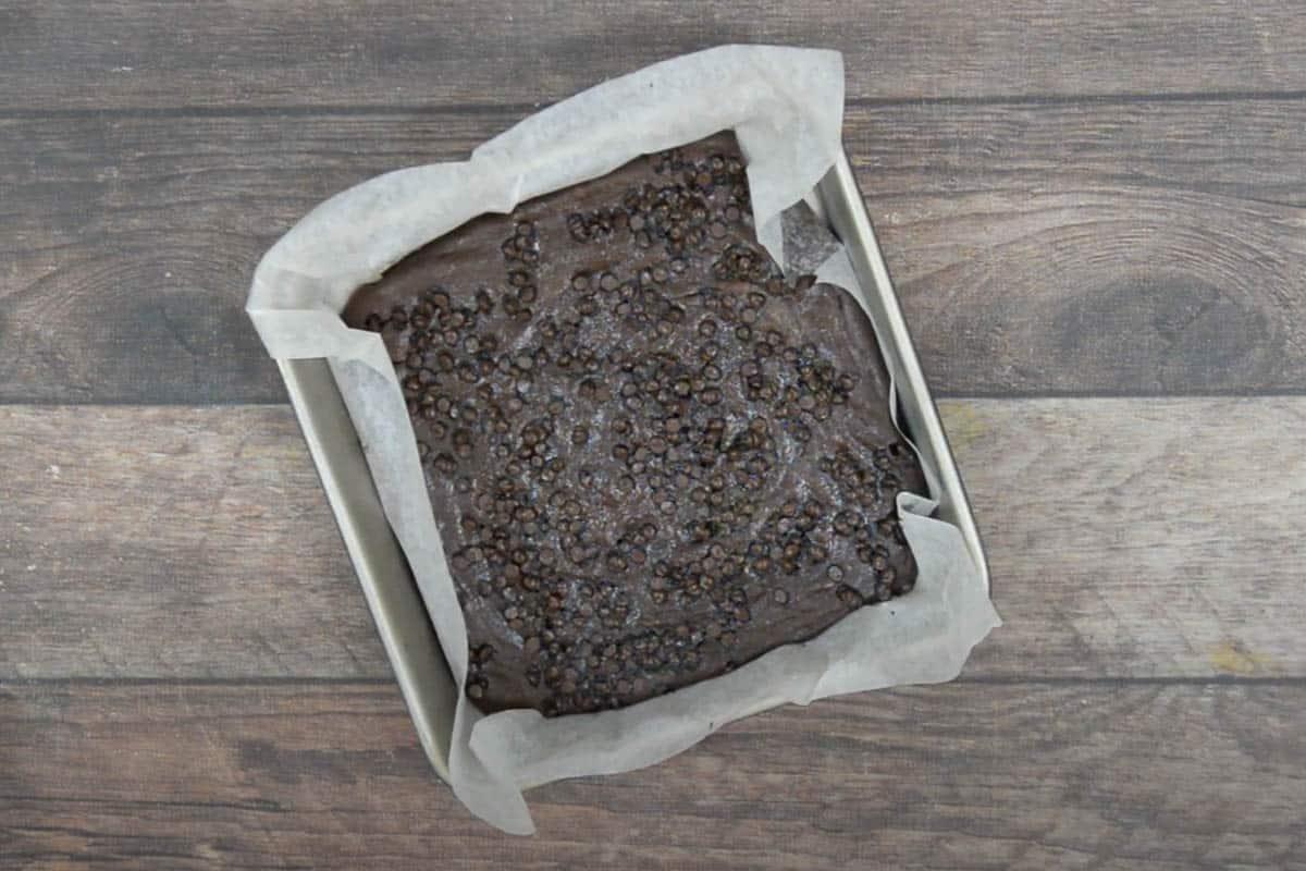 Ready 3 ingredient brownies.