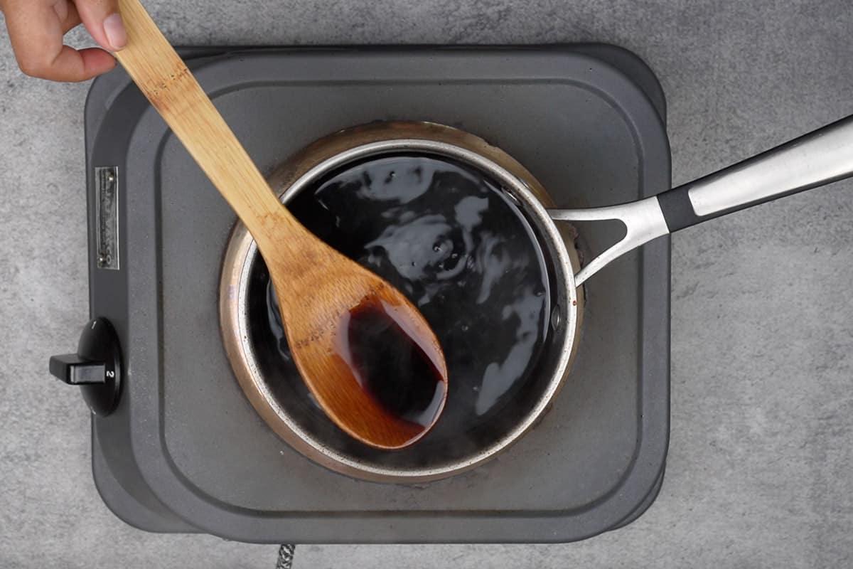 Ready balsamic glaze.