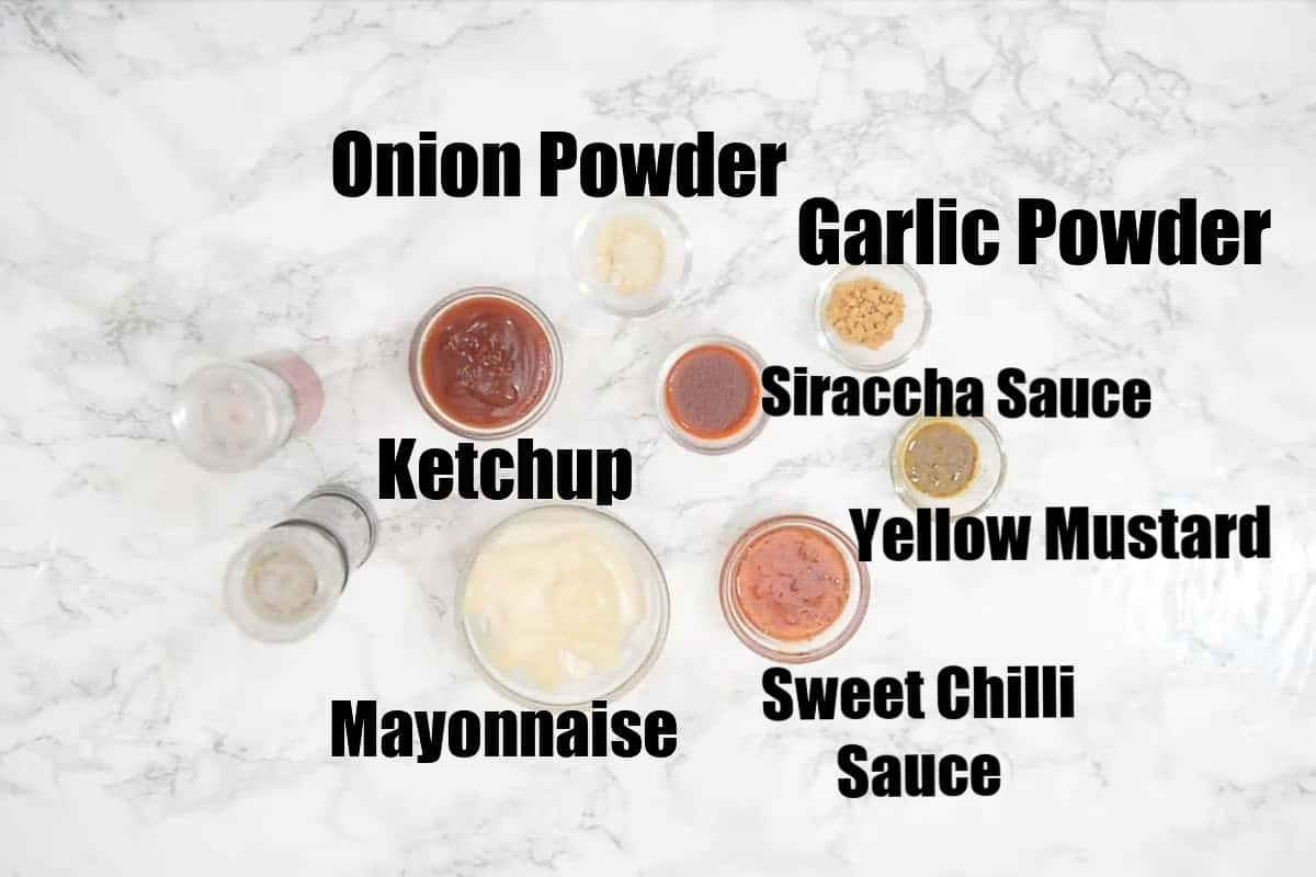 Boom boom sauce ingredients.