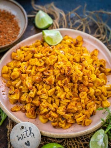 These Southern Cajun Fried Corn are super easy to make and comes together in under 30 minutes. Serve them as a side or as an appetizer.