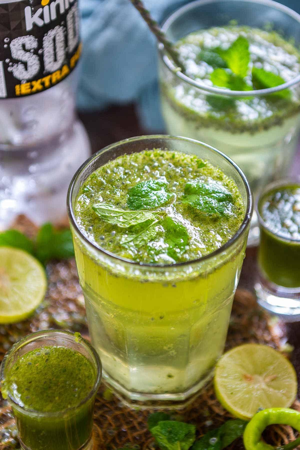 Fuljar soda served in a glass.
