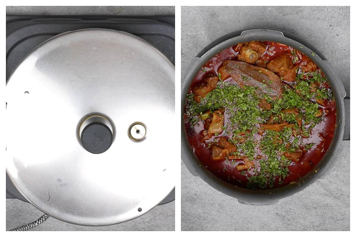 Pressure Cooker Laal Maas Steps 9-10