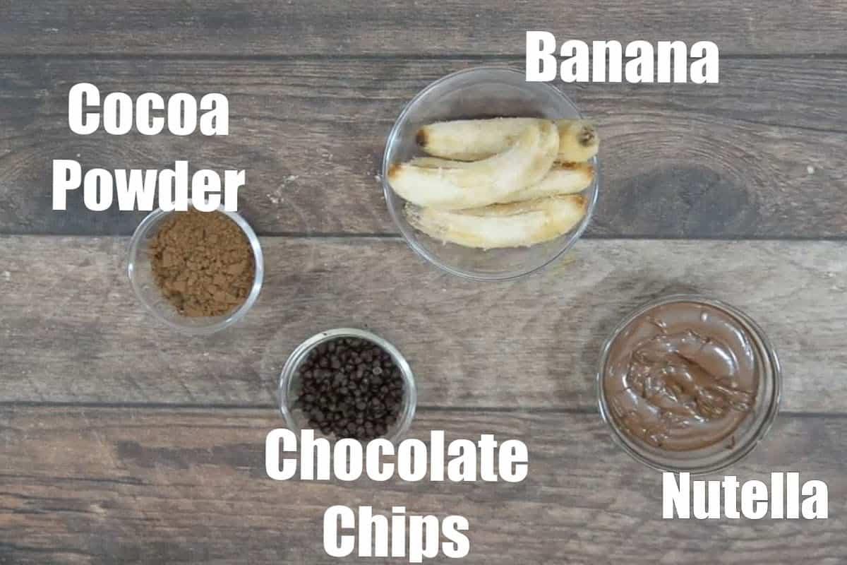 3 ingredient brownies ingredients.