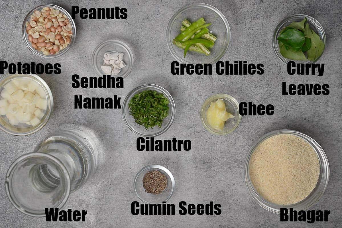 Bhagar Ingredients.