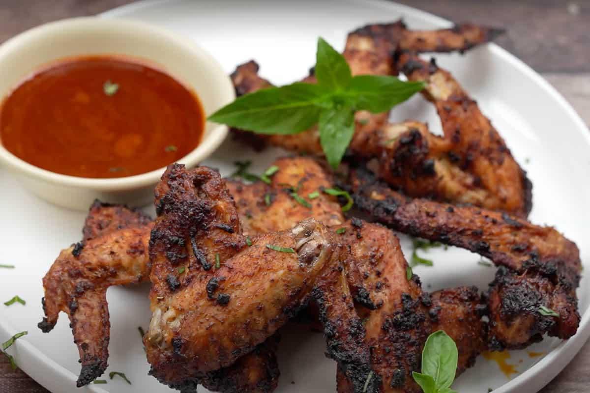 Ready cajun chicken wings.