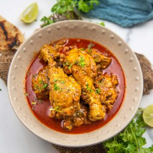 Love the chicken curry that is served at the Indian restaurants? Then try my super easy recipe which is made using basic ingredients. This spicy curry comes together in under 45 minutes and tastes divine. Serve it with roti, naan bread, or steamed basmati rice for an Indian treat!