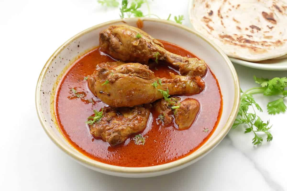 Ready chicken curry.