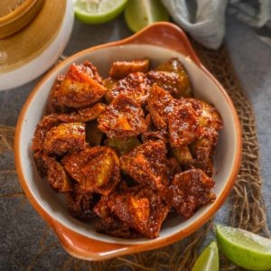Elumichai Oorugai is an instant lemon pickle from the southern part of India. It is sweet, tangy and will definitely tickle your taste buds with its incredible taste. Here is how to make it.