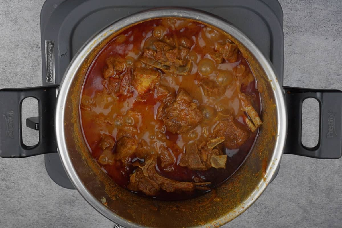 Cooked mutton.