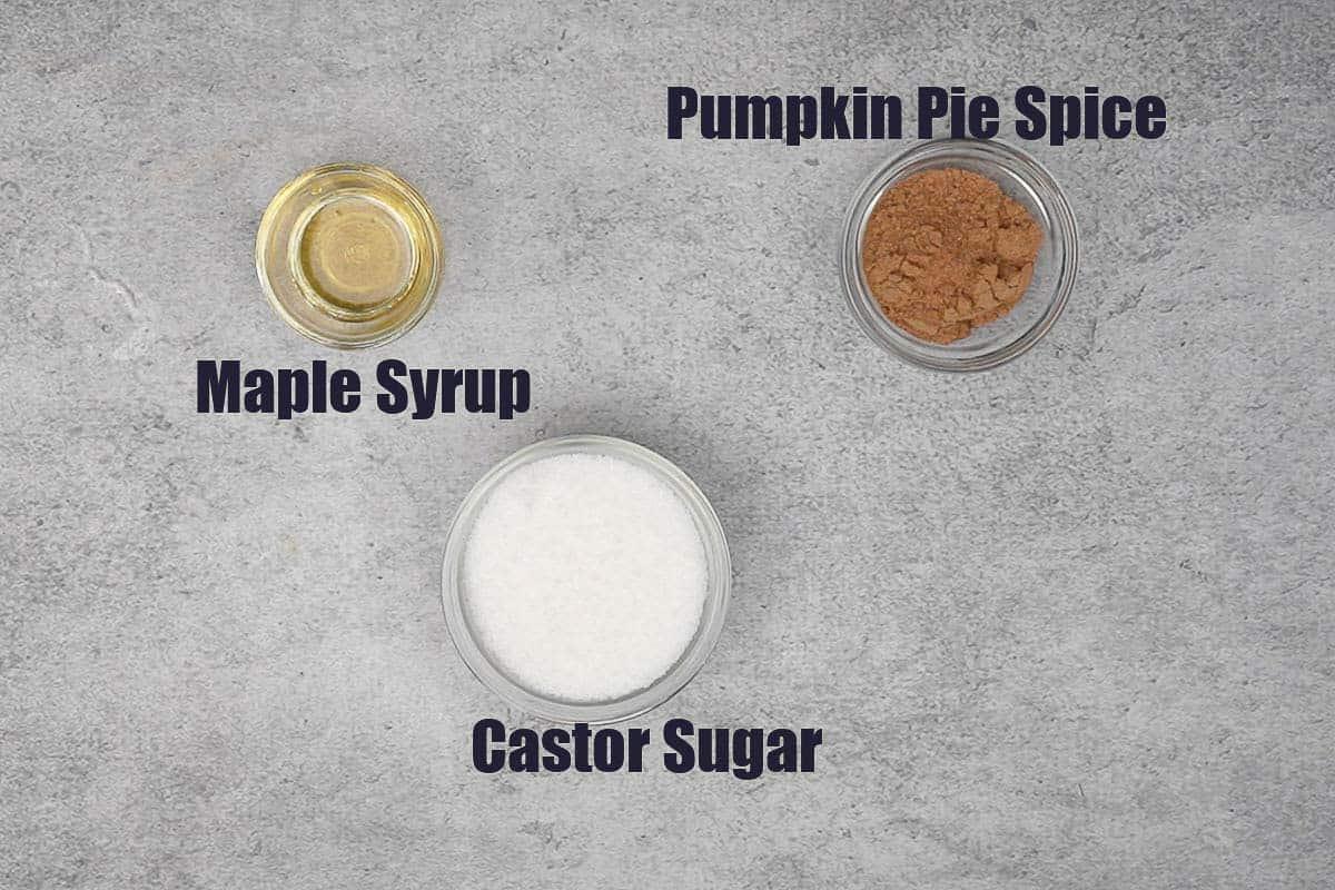 Pumpkin Spice martini Rimming Ingredients.