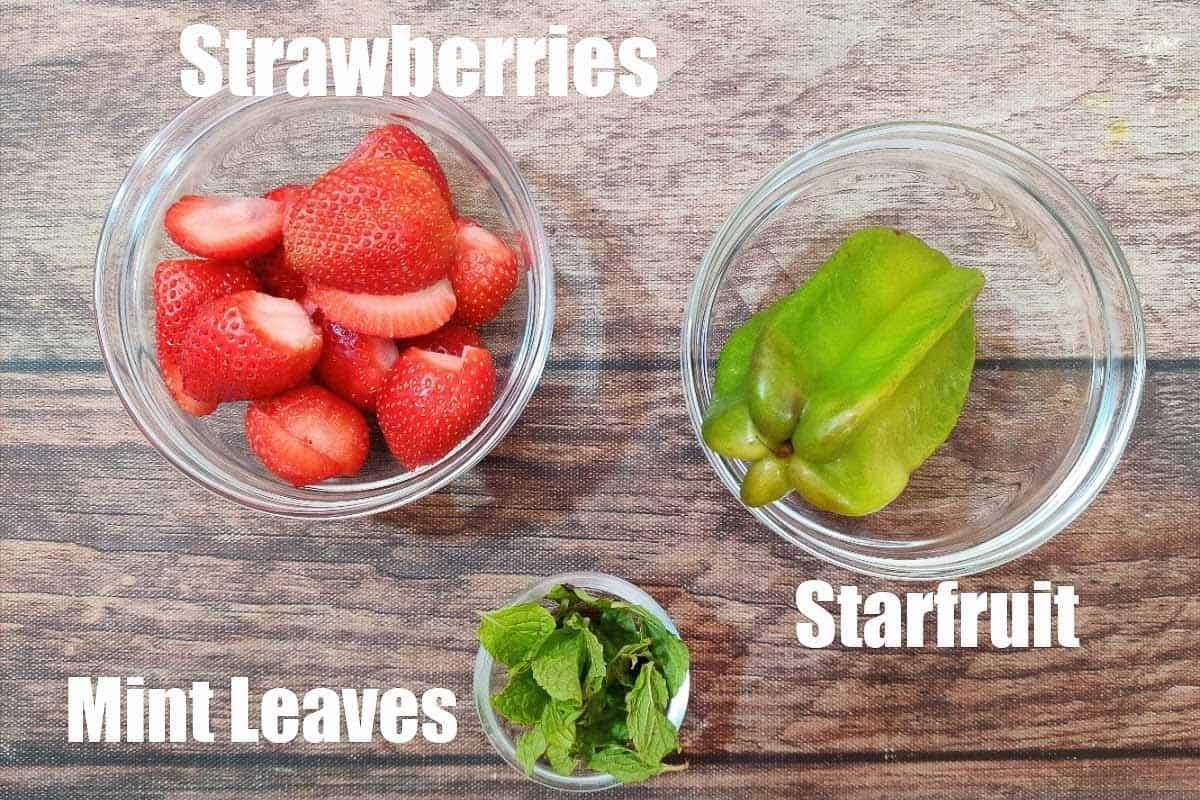 Starfruit Detox Water ingredients.
