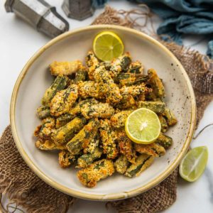 These air fryer okra are easy to make, fuss-free, and great to munch on whenever the hunger strikes. Make this crispy treat in under 15 minutes using simple ingredients and very little oil.