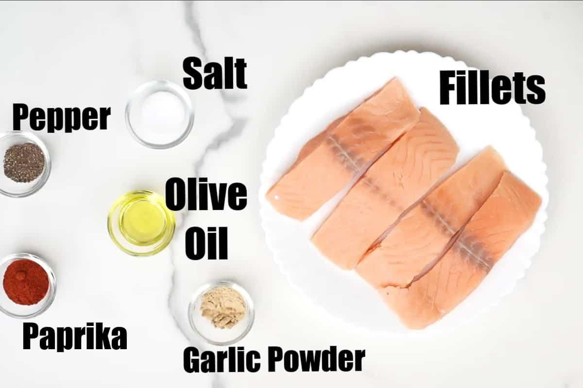Air Fryer Salmon Ingredients.