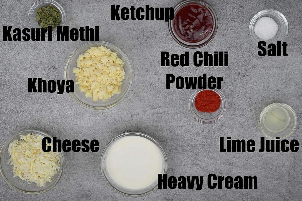 Butter chicken gravy ingredients 1