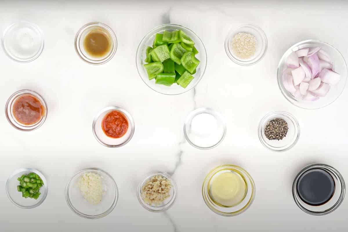 Gobi manchurian ingredients for the sauce