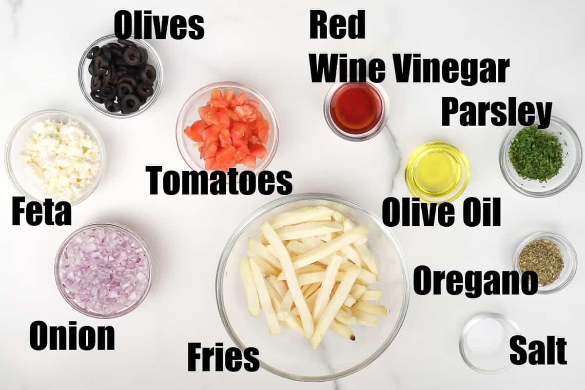 Greek Fries Ingredients.
