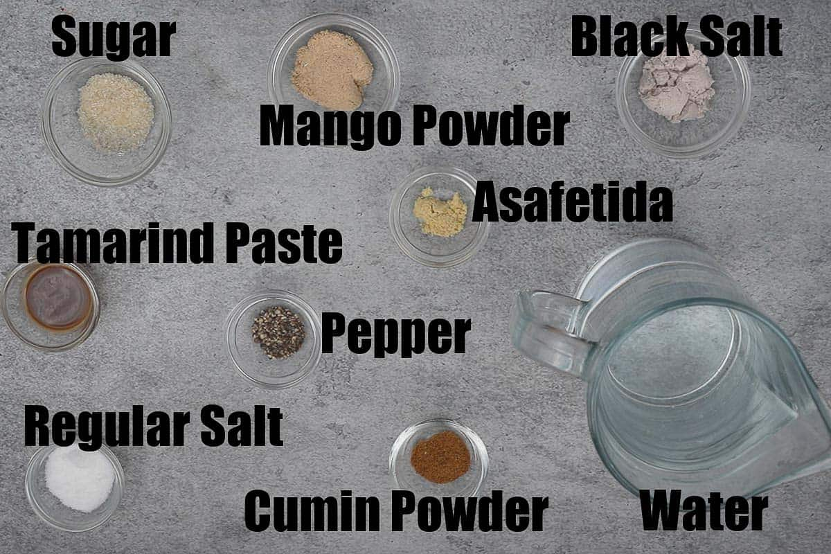 Jaljeera ingredients 2