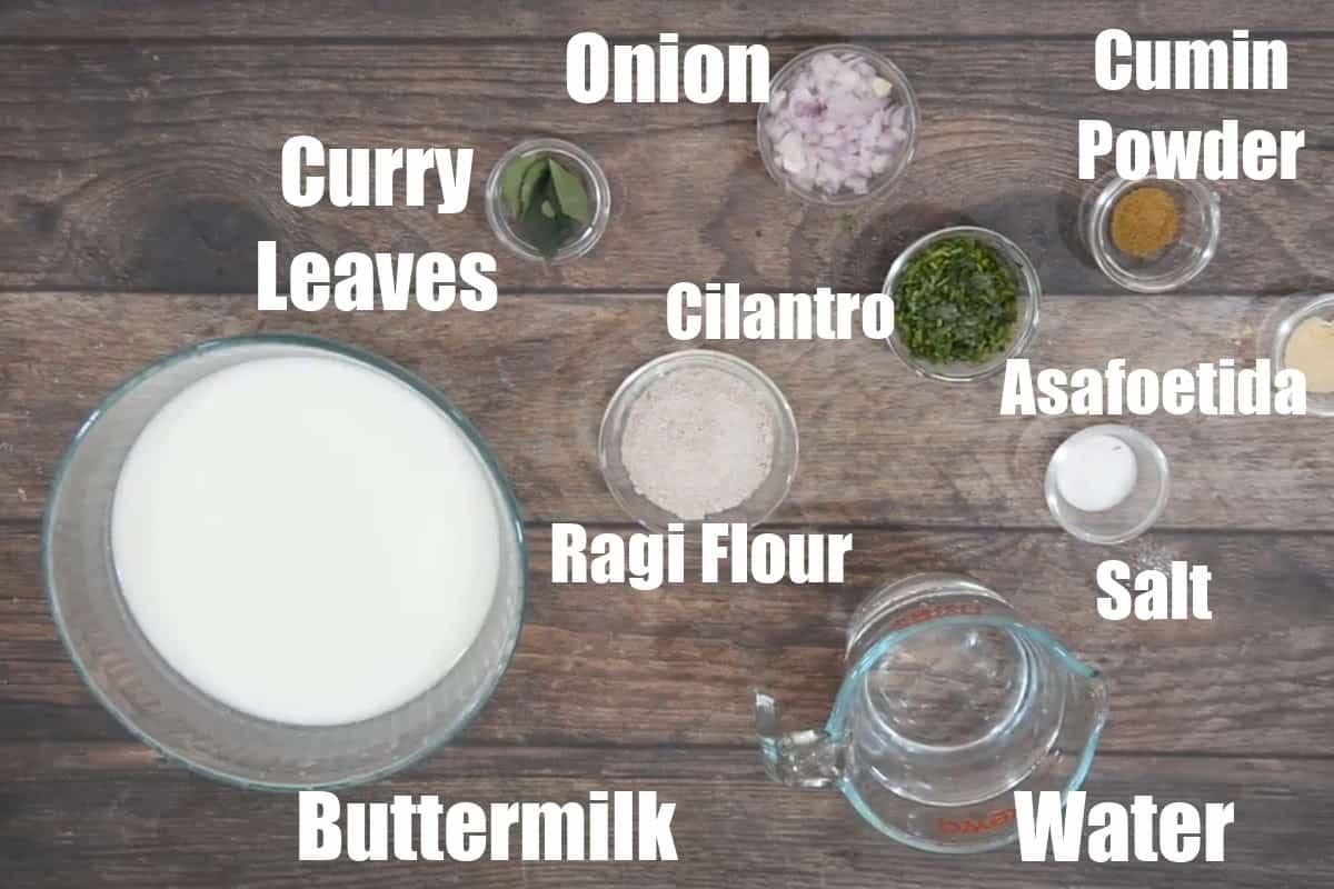 Ragi Malt Ingredients.