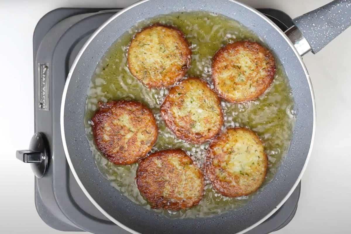 Fried potato pattice
