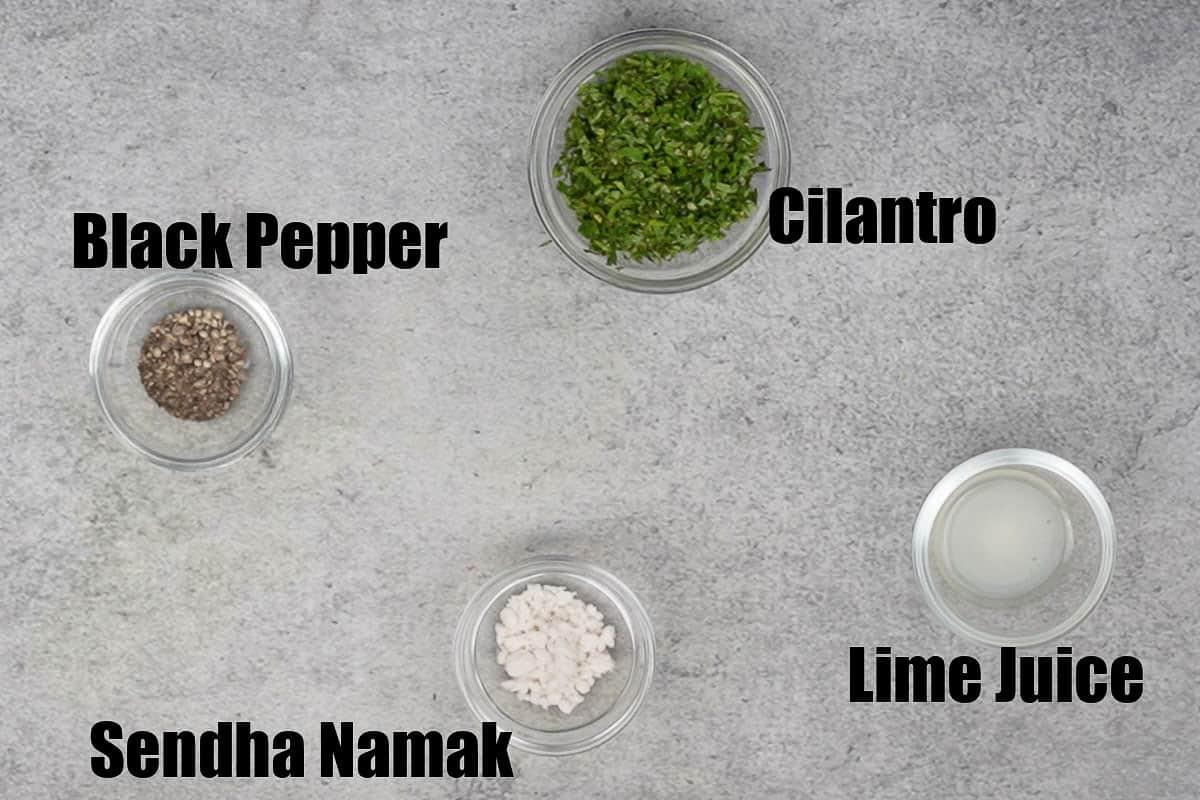 Vrat wale sookhe aloo ingredients 2.