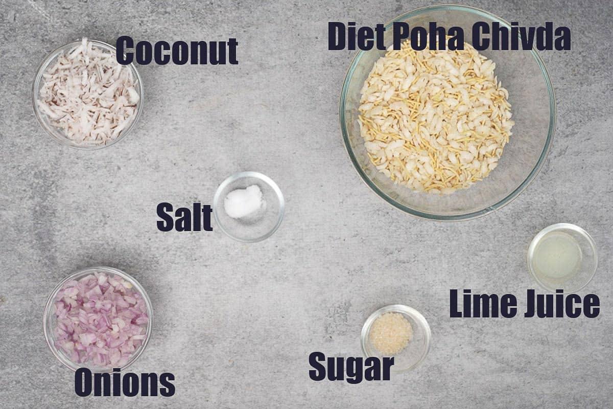 Poha Bhel Ingredients.