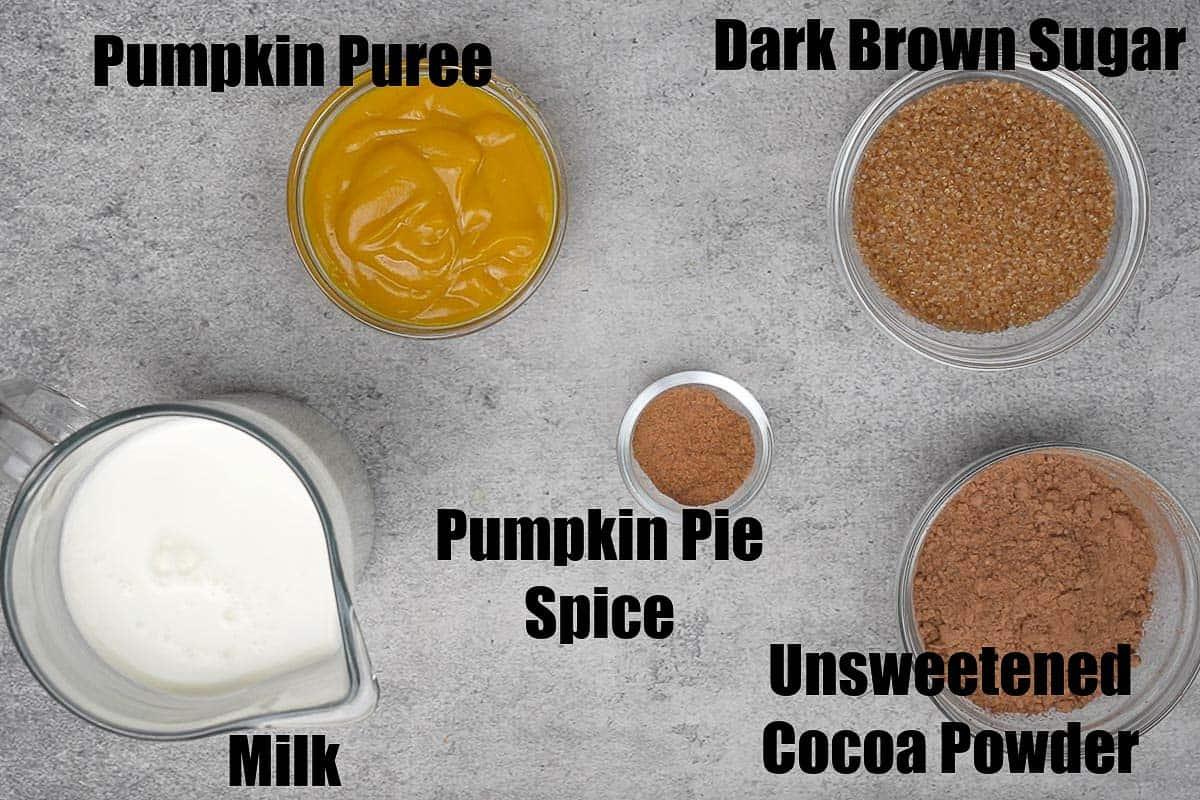 Pumpkin Spice Hot Chocolate Ingredients 1.