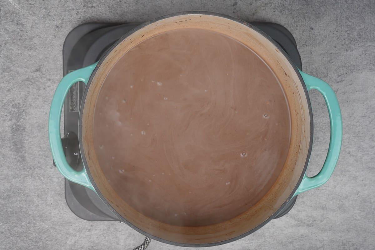 Ready pumpkin spice hot chocolate.