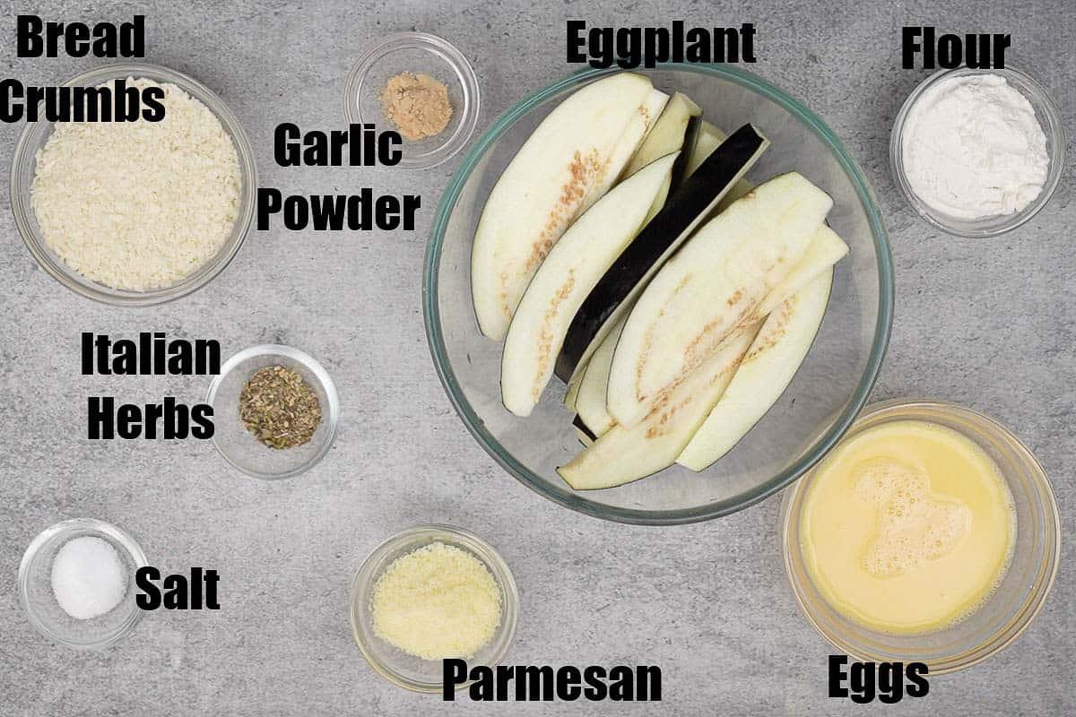 Air Fryer Eggplant Ingredients.