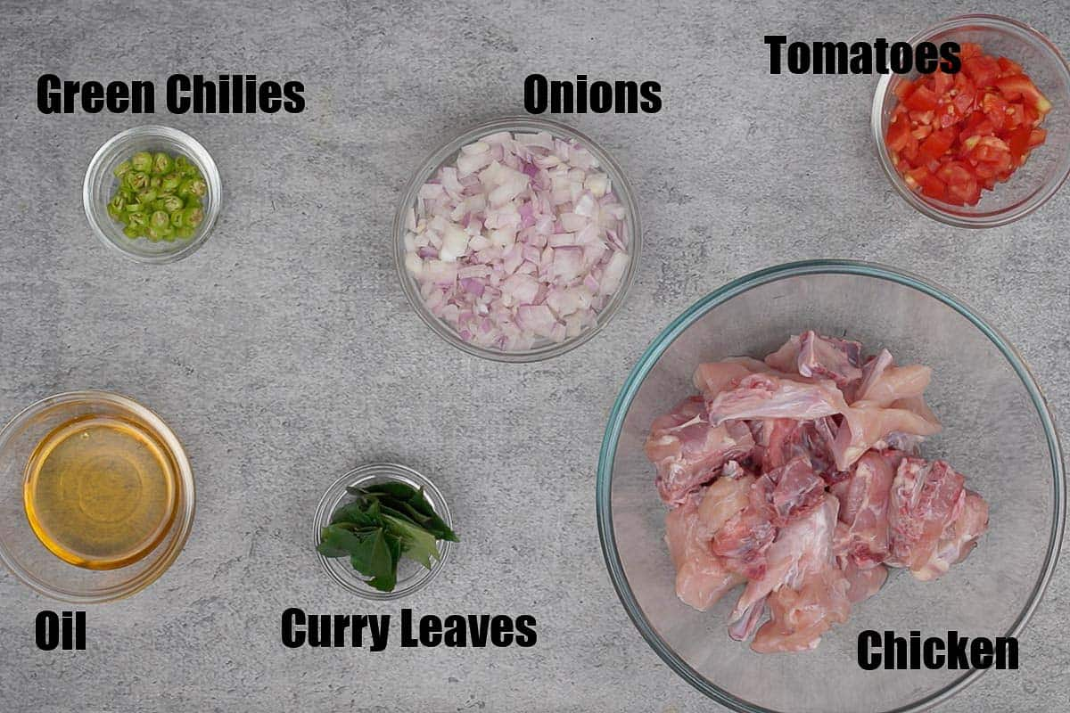 Andhra Chicken Curry Ingredients.