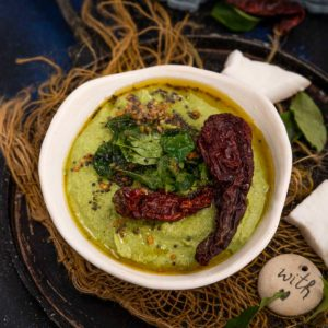 Mint Coconut Chutney is a delicious take on the classic South Indian coconut chutney where fresh mint leaves are added to it for a refreshing taste. Serve it with idli, dosa or uttapam. Here is how to make it.